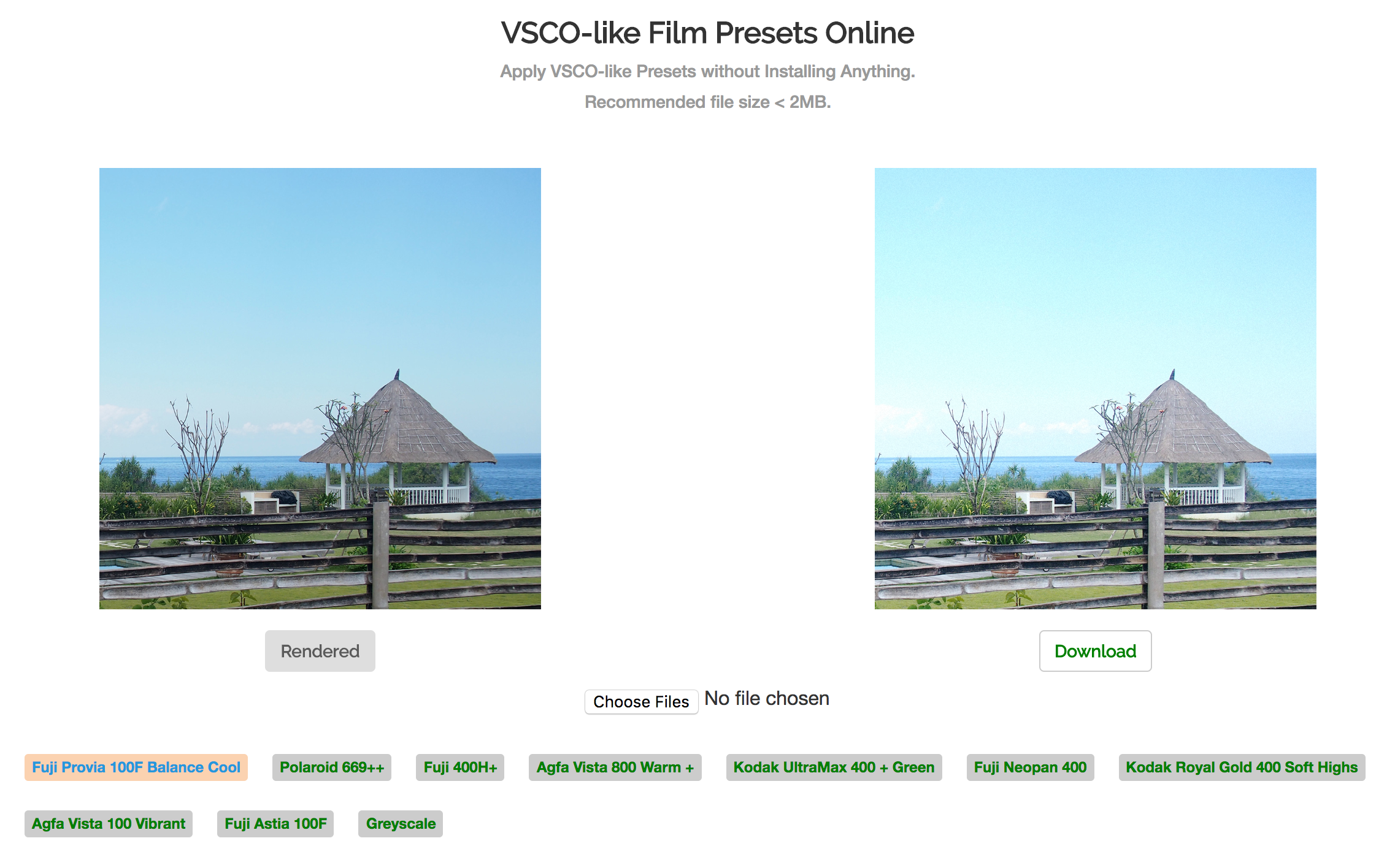vsco online search result